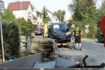 Dopravní nehoda se stala v Kladně-Švermově v ulici 28. října.