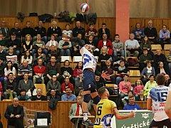 Kladno volejbal. cz – Euro Sitex Příbram  3:2,  EL volejbalu, Kladno, 20. 1. 2018