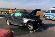 Tragická nehoda u Třebíze na I/7, neděle 24. března 2012