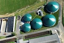 Bioplynová stanice v Žabovřeskách. Tak nějak podobně by mohlo vypadat i zařízení u Slaného