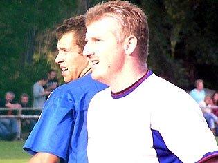 Dan Mašek (v bílém) dal jediný gól hostů.