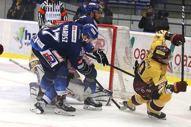 Chance liga, Kladno - Jihlava, 5. zápas vyhráli hosté 2:1. Rostislav Marosz zazdil velké šance.