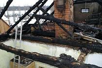 Požár domu v Bilichově na Kladensku.
