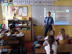 Děti při besedě se strážníky nejvíce potrápily značky.