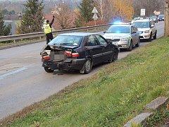 Nehoda v ulici Pod Zámkem v Kladně.