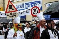 I přes deštivé počasí se v sobotu v Kladně uskutečnil již 13. ročník kulinářských Oslav sv. Vavřince.