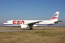 Airbus A320 nesoucí jméno Slaný.