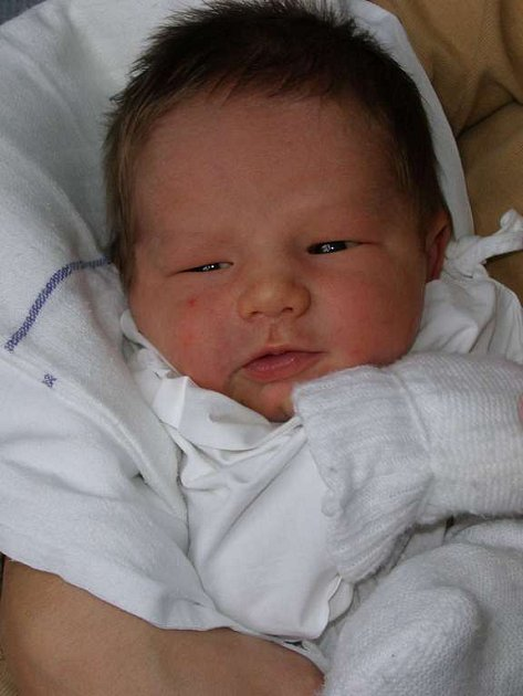 Šimon Prokop, 15.11. 2007, Kladno, váha 3,29 kg, míra 47 cm, rodiče Petra a Michal Prokopovi (porodnice Kladno).