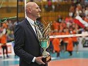 Kladno po roce opět stříbrné, titul bere Karlovarsko // Kladno volejbal cz - Karlovarsko 2:3, finále Extraliga volejbalu (stav 0:3), Kladno, 26.4.2018