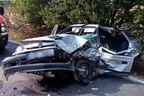 Vážná nehoda se stala v sobotu u Velvar