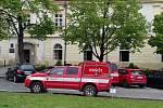 Na slánském úřadě vypukl požár.