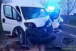 Nehoda u Slaného.