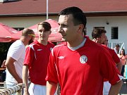 90. let fotbalu v AFK Tuchlovice. Nastupuje Brnovják