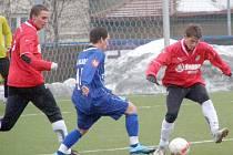 Plzeň B - Kladno 0:4. Mladý bek Adam Hofman.