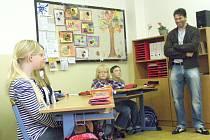 Jaromír Jágr v páté třídě 12. základní školy.