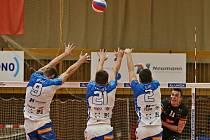 Kladno volejbal cz - Karlovarsko 1:3, čtvrtfinále EL volejbalu, stav série 0:2, 7. 3. 2021