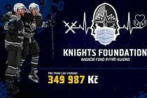 Rytíři Kladno vybrali na virtuální zápas s COVID-19 celkem 349 987 korun.