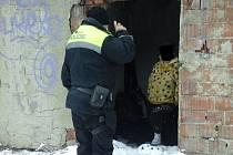Strážníci kontrolují lidi bez domova i v noci. V těchto dnech jim hrozí podchlazení a umrznutí.