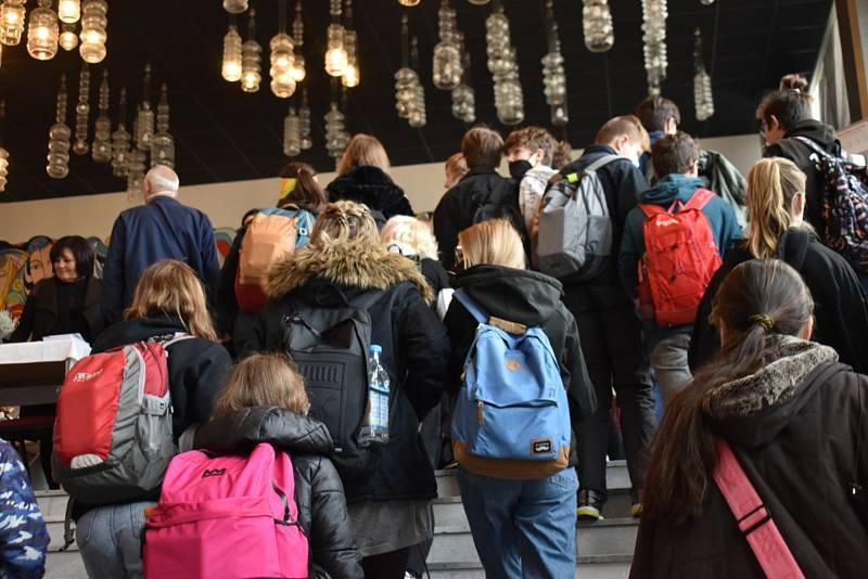 První den veletrhu vzdělávání v Kladně.