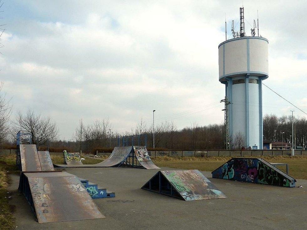 Slaný, skatepark na Hájích.