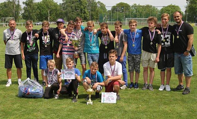Vítězný tým Tuchlovic // Lidický pohár 2016, finálový turnaj 4.6.20165