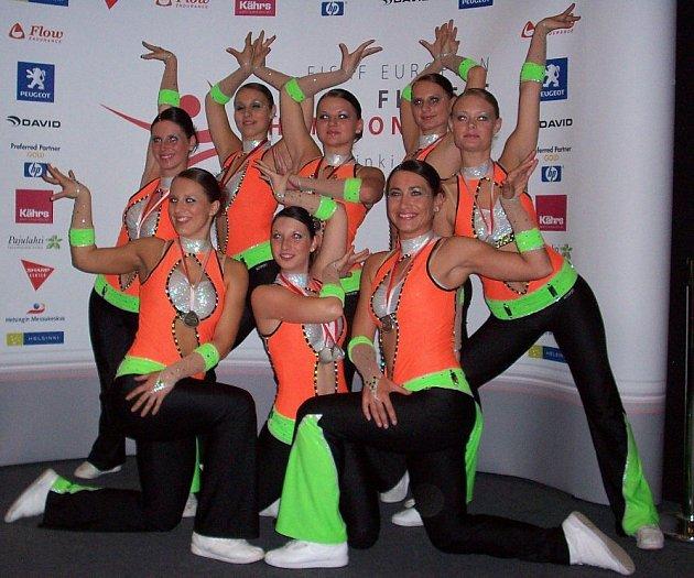 Fitness step team obsadil druhé místo.