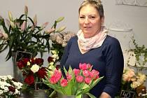 Majitelka kladenského rodinného květinářství Bellis Eva Vopatová.