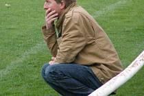 Trenér Radek Hanzlík tentokrát s hrou Kolče spokojen být nemohl.