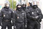 Policejní manévry si vyžádala demonstrace pravicových extrémistů v Kladně.