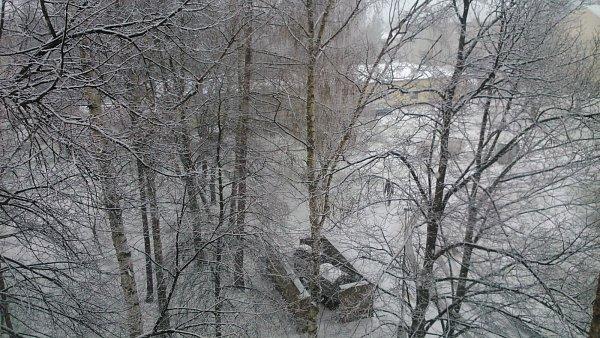 Zasněžený Rozdělov vKladně.