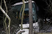 Nehoda mezi Kladnem a bývalou šachtou v Libušíně