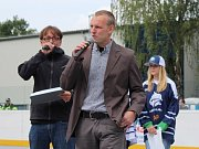 Slavnostní otevření zrekonstruované hokejbalové arény Kladno. Milan Maršner měl vše na organizačním hrbu