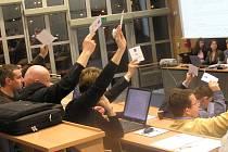 Hlasování o rozpočtu  předcházela diskuse zastupitelů. S  jeho schválením souhlasilo všech 29 přítomných členů.