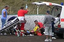 Slánský smolař Martin Vaculík utrpěl ve 4. jízdě zlomeninu stehenní kosti.