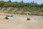 Archeologové odhalili ve Slaném prastaré pohřebiště se skrčenci.