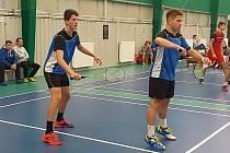 Badmintonisté BaC Kladno - zleva J. Altera a M. Šilhan.
