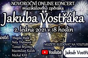 Plakát k novoročnímu koncertu Jakuba Vostřáka.