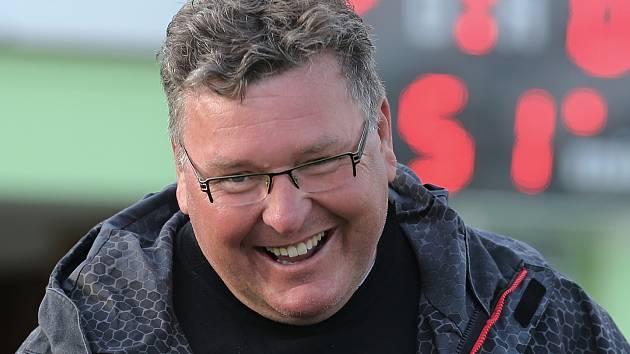 Bývalý trenér domácího týmu Zdeněk Hašek // Sokol Hostouň - SK Kladno 2:0, Divize B, 28. 4. 2019, Zdeněk Hašek