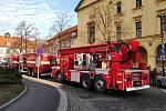Na veřejných záchodcích ve Slaném vypukl požár.