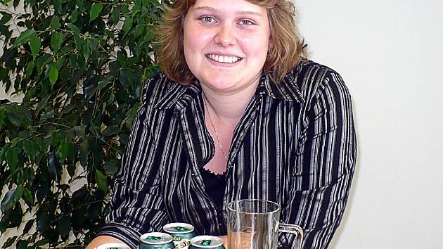 Vítězka 8. kola Tip ligy  Lucie Hlusičková ze Hřebče se v první řadě připravuje na blížící se maturitu.