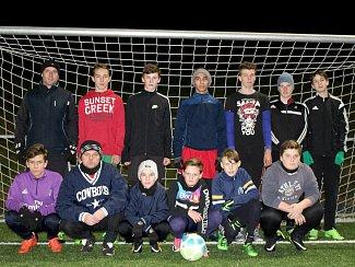 Starší žáci Baníku Švermov, druhý nejlepší tým krajského přeboru.