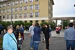 První školní den roku 2020/2021 v Kladně.