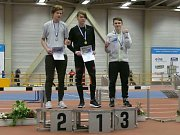 Mladí atleti AC Tepo na mítinku v Chemnitzu. Tomáš Dvořák vyhrál 60 m, Jan Ullman byl druhý.