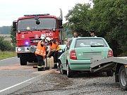 U Velké Dobré se srazila dvě auta.