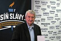 Otevření Síně slávy kladenského hokeje. Jiří Kulíček