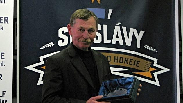 Otevření Síně slávy kladenského hokeje. Otakar Vejvoda st.