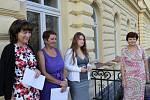 První den školy velvarských prvňáků, školní rok 2012/2013