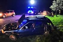 Na silnici u Tuřan se stala v sobotu večer vážná nehoda.