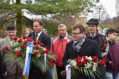 Památku válečných veteránů uctili také v Kladně