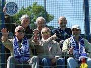 Pokud bych volil sympaťáky hlediště, byla by to tahle parta pravých fandů. // SK Kladno - FC Chomutov 1:0 (0:0), utkání 28.k. CFL. ligy 2011/12, hráno 19. 5. 2012